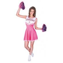 Cheerleader Vaaleanpunainen Naamiaisasu