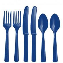 RuokailuvÄLineet Sininen 24-Pakkaus