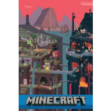 Minecraft Sam Cube Juliste