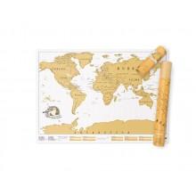Scratch map världskarta färg