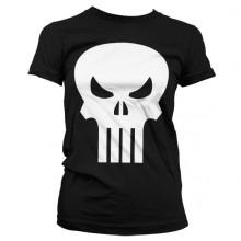 Naisten The Punisher Skull T-paita (Musta)
