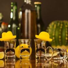 Shottilasit Meksikolainen Sombrero 4-pakkaus