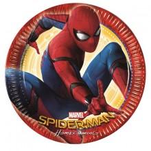 Spiderman Homecoming Pahvilautaset 8-pakkaus