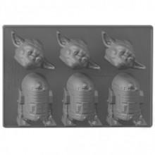 Star Wars Yoda ja R2-D2 Jäämuotti