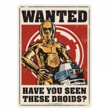 Star Wars Kyltti Metalli Droids