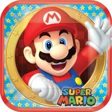 Lautaset Deluxe Super Mario 8-Pakkaus