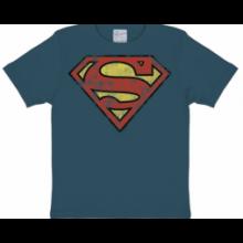 Superman Logo Lasten T-Paita Harmaa