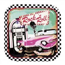 Lautaset Rock 50-luku 6-pakkaus