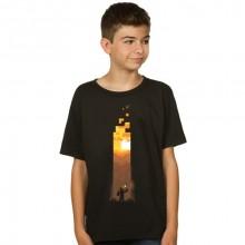 Minecraft Torch Lasten T-paita