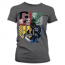 Harry Potter Dorm Crest Naisten t-paita