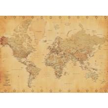 WORLD MAP (VINTAGE STYLE) JULISTE