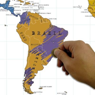 Scratch Map Juliste Matkaversio