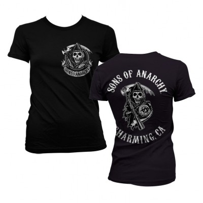 Sons Of Anarchy SOA Full CA Backprint Naisten T-Paita